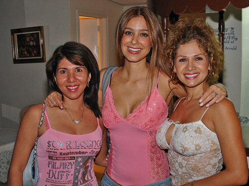 Three lovely Latinas during our socials