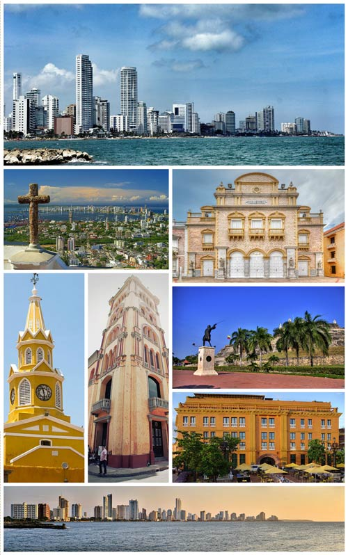 A photo of Cartagena city's famous attractions